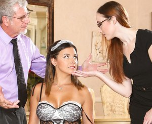 Danica Dillon & Crystal Clark in Seduced By The Boss's Wife #02, Scene #01