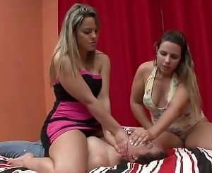 2 blondes smother girl