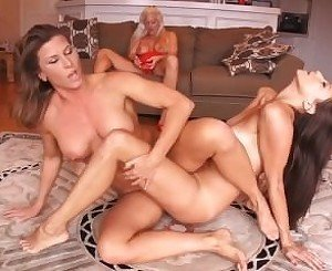 Ariel X vs Celeste Star sexfight while Holly Heart watches and masturbates