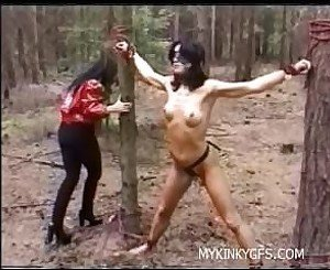 punishment her slave in the forest