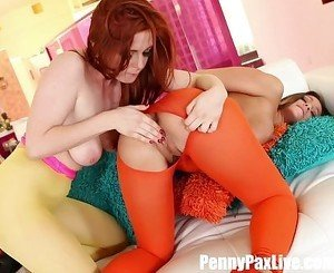 Super Hot Lesbian scene dressed in Neon with Penny Pax & Abigail Mac