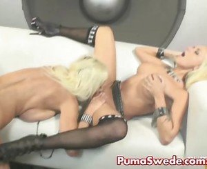 Blonde Puma Swede Gets Rocked by Briana!
