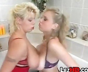 Lesbians With Big Tit In The Bathroom