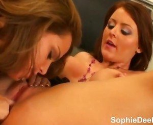 Big Tit Sophie Dee Spitting on Tits and Pussy