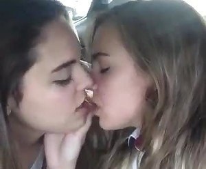 Beautiful girls kissing, lovely vid
