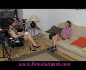 FemaleAgent Licking for work