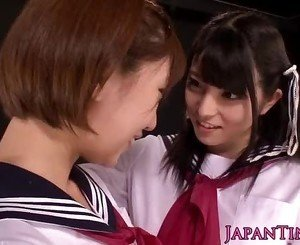 Tiny asian schoolgirls enjoy lesbian love