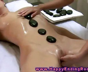 Girl gets a happy ending massage