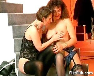 Two lesbian sluts satisfying each other