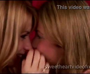 Skilled blond lesbian seduces innocent young blondie
