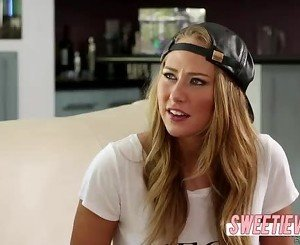 Hot babes Jelena n Carter fuck wildly at the poolside until they orgasm